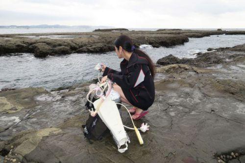 江の島 器材セッティング